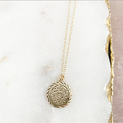 Vintage Vine Coin Necklace