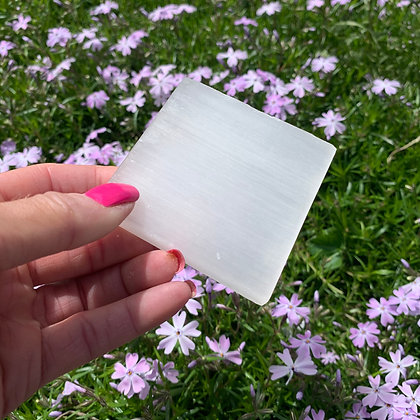 Square Selenite Plates