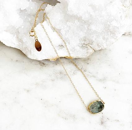 Pretty Little Thing Necklace (Labradorite)