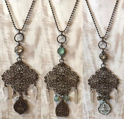 Statement Necklaces with Buddha + Healing Gems