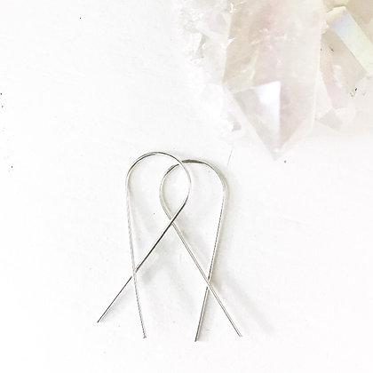 Silver Slider Earrings