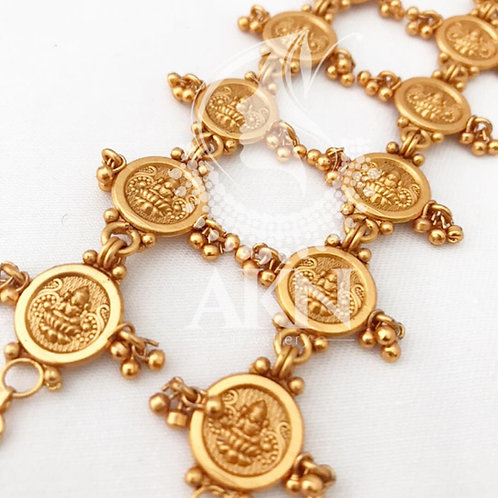 Coin matte earring chain