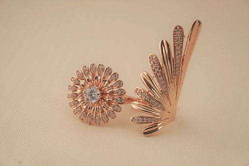 Rose Gold Double Finger Ring