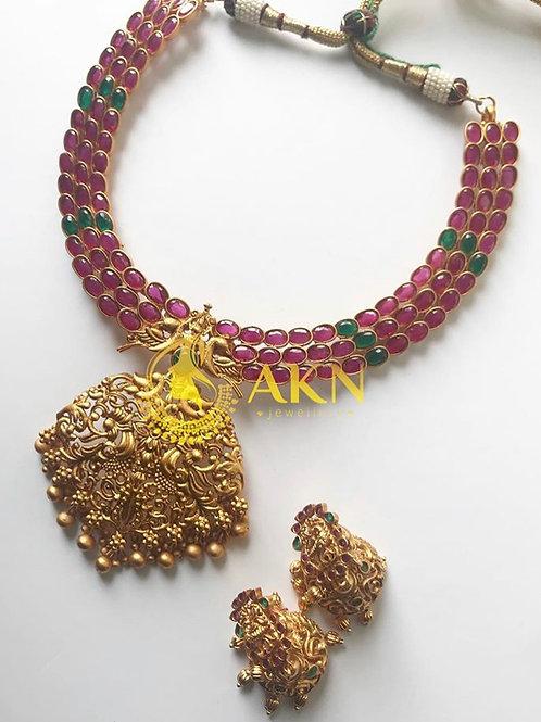 Matte multi necklace set
