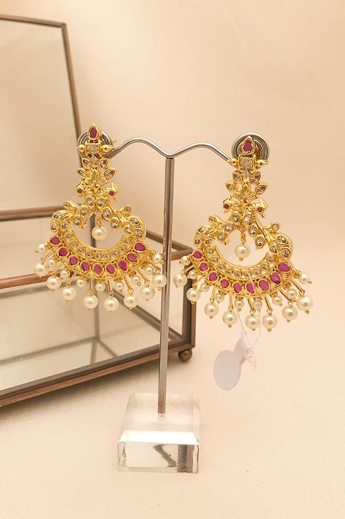 Ruby CZ Earrings