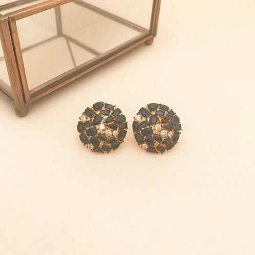 Black CZ stud earrings