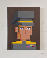 MELANCHOLY OF THE SOLDIER 45X35CM 2200€