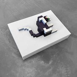 Cat behaviour - relax - Acrylic on wood