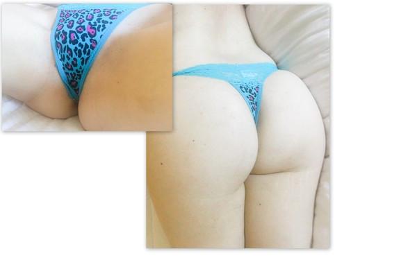 Blue Leopard Thong