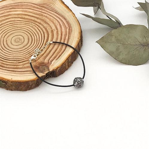 Bracelet en caoutchouc - Perle ethnique