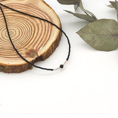 Collier rocaille Noir
