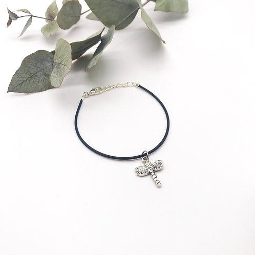 Bracelet en caoutchouc - Libellule