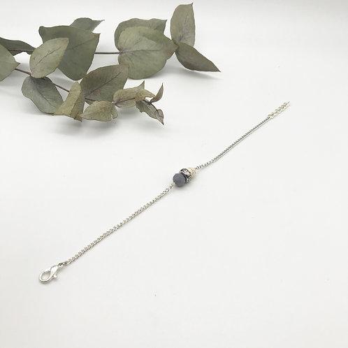 Bracelet argenté - Gris et Beige