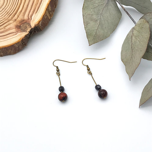 Boucles d'oreilles pendantes - Bronze