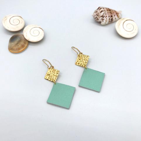 Boucles d'oreilles Elena -Mint