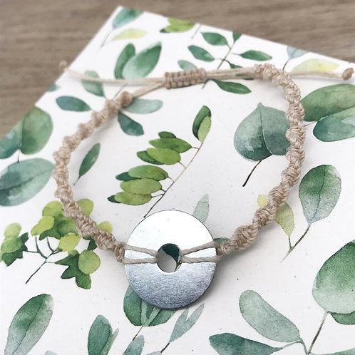 Bracelet macramé torsadé - Rondelle large