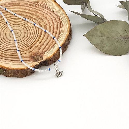 Collier Rocaille Fleur de lys