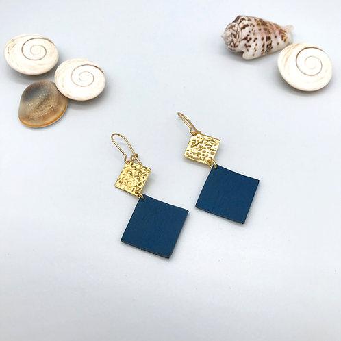 Boucles d'oreilles Elena - Bleu