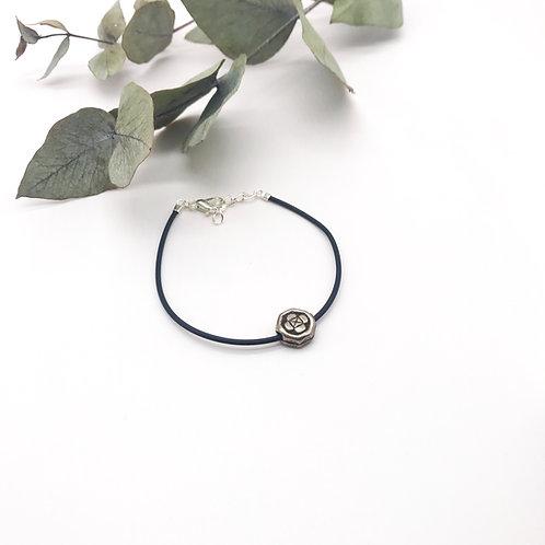 Bracelet en caoutchouc - Perle en Métal