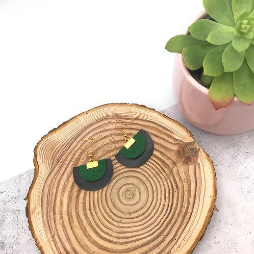 Boucles d'oreilles Firmament - Vert Emeraude