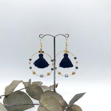 Boucles d'oreilles Jeanne - Bleues