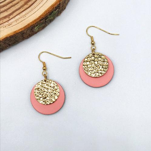 Boucles d'oreilles - Circle rose