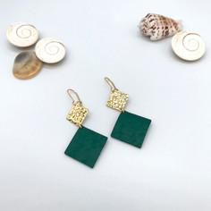 Boucles d'oreilles Elena - Vert
