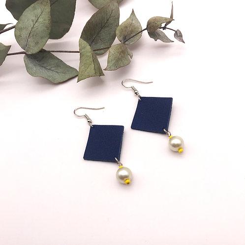 Boucles d'oreilles - Quadra - Bleu