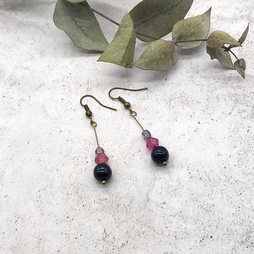Boucles d'oreilles pendantes Trio - Bronze