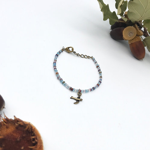 Bracelet oiseau - Bronze