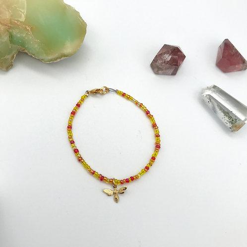 Bracelet orangé abeille