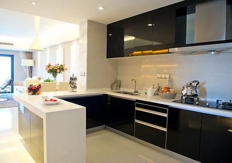Clean modern kitchen in a modern home.jpg