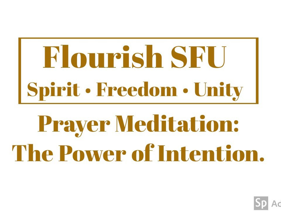 The Power of Intention.