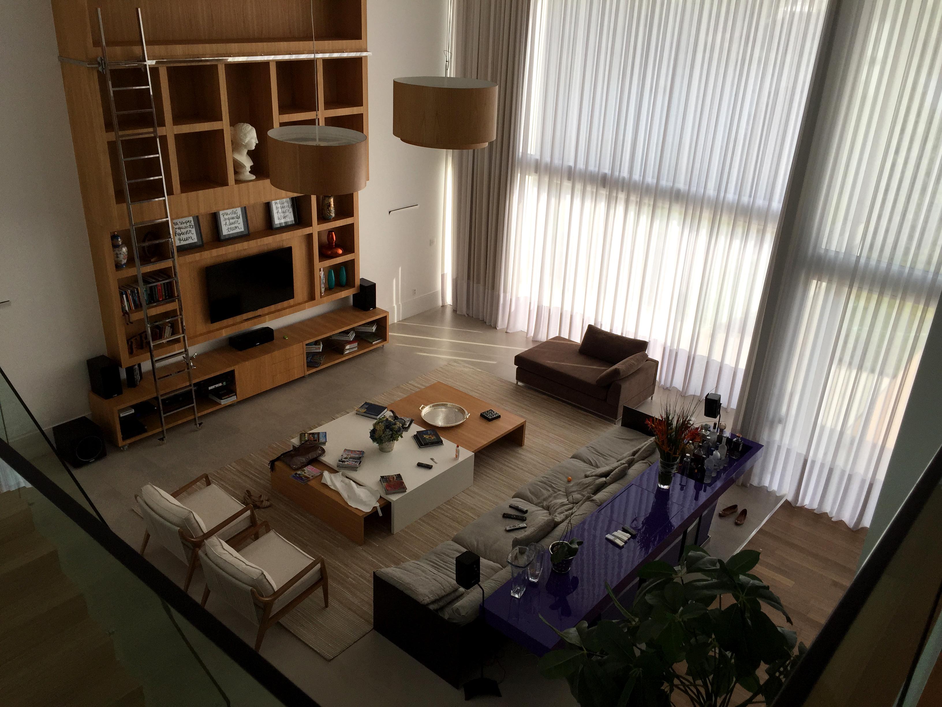 Casa Brum-Sala estar home cine