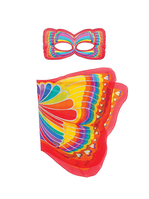 Wings + Mask Sets, Rainbow Butterfly