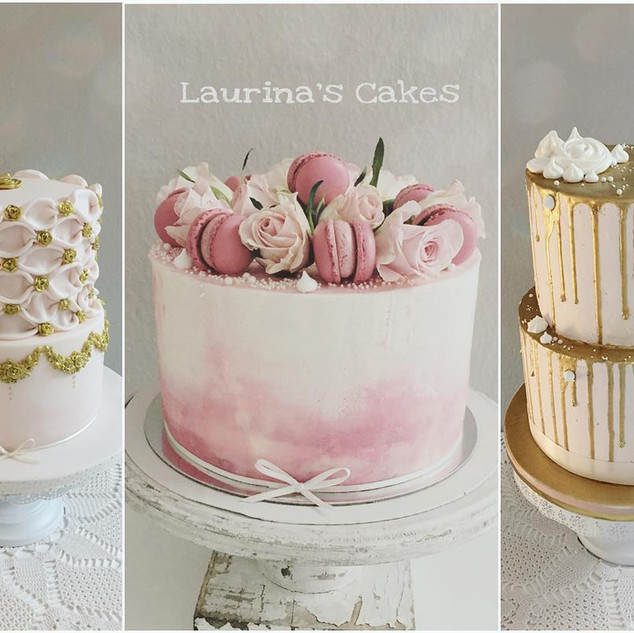 dusty rose and gold cakes.jpg