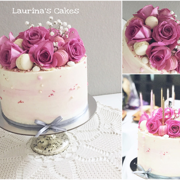 rose and macarons ombre cake.JPEG