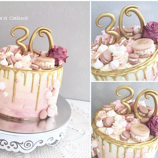 rose gold macarons drip cake.JPEG