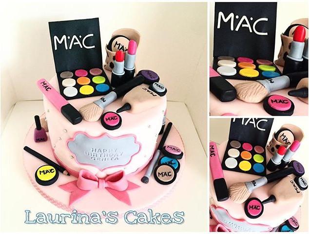 #makeupcake #cakesforher #birthdaycake #