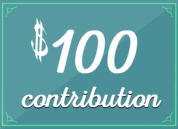 $100 tax-deductible contribution