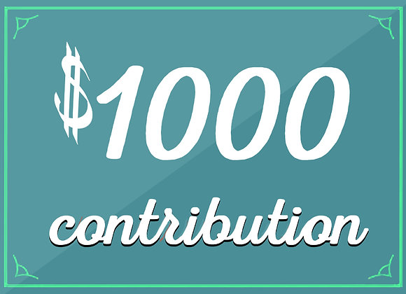 $1000 tax-deductible contribution