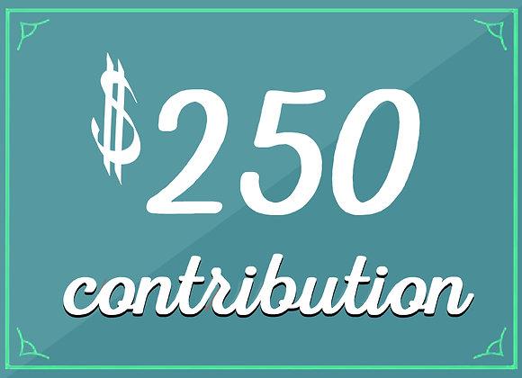 $250 tax-deductible contribution