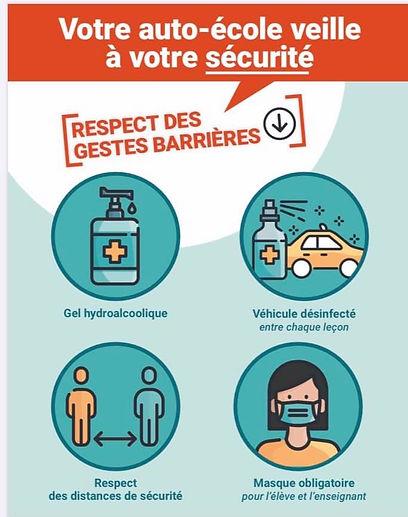 Votre auto ecole veille a votre securite