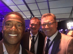 Mike Haynes, Ted Hendricks + Howie Long, Pro Football Hall of Famers