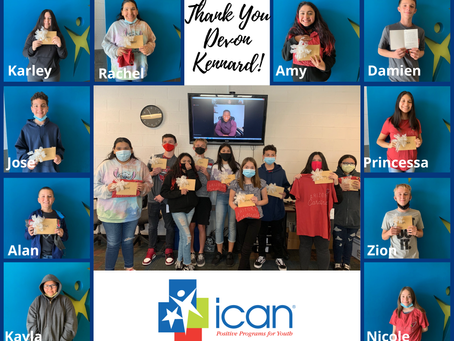 ICAN Youth Recognized by AZ Cardinal Devon Kennard Reciprocate Handwritten Cards to Say Thank You