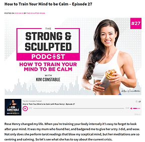 how to train your mind to be calm Kim Co
