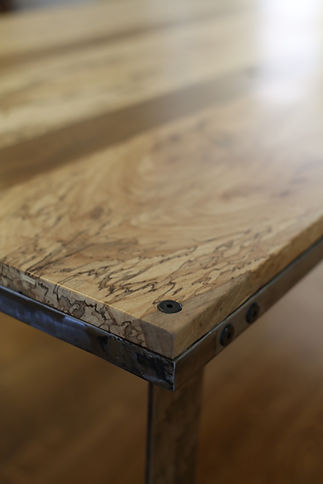 Live Edge Table Modern Live Edge Spalted Pecan
