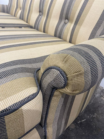 Vintage Upholstery Fabric Updated Sofa
