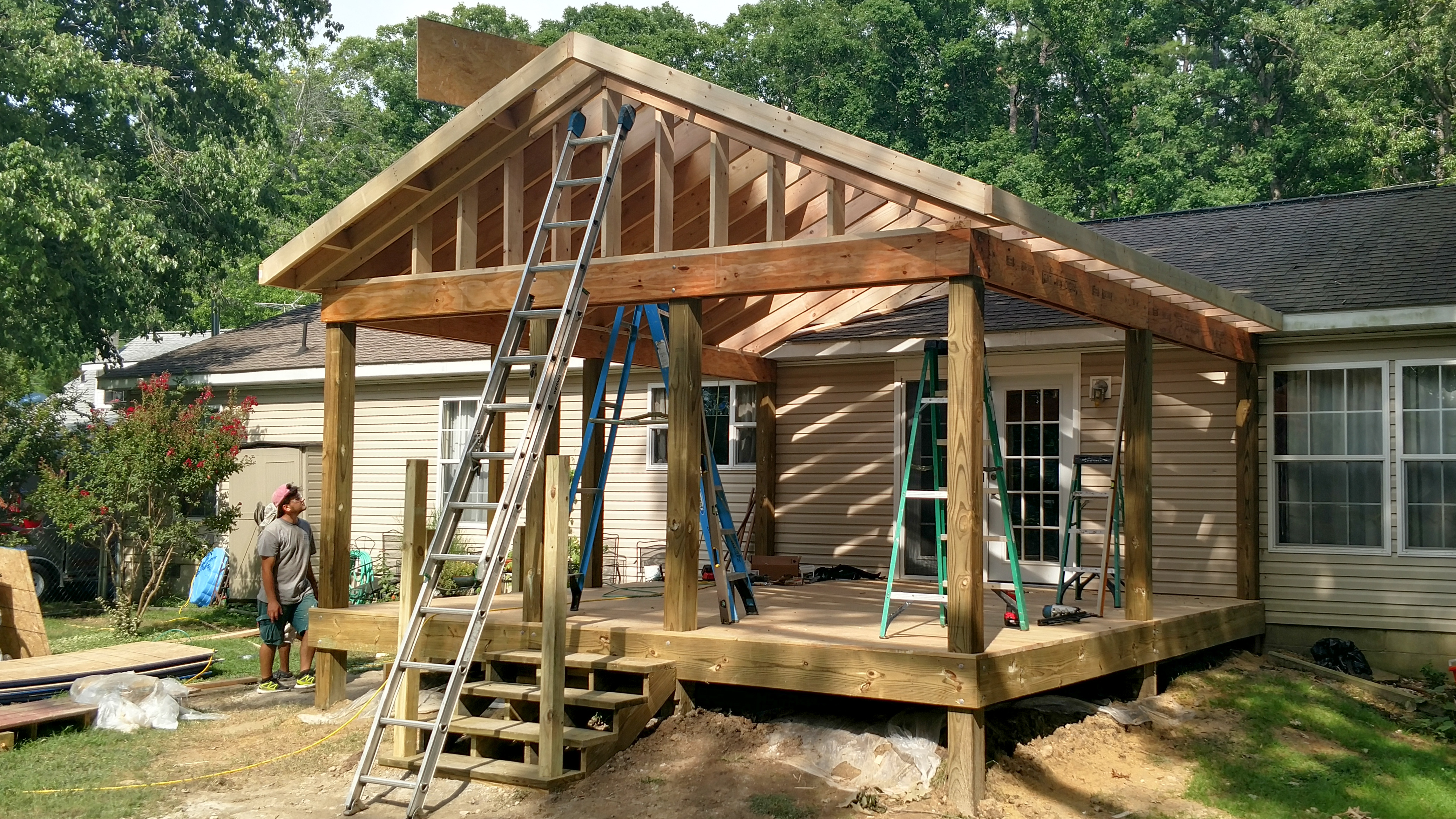 SCREENED PORCH ADDITION FRAMEWORK