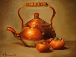 Tea Pot with Persimmons